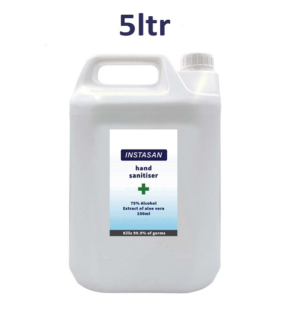 Instasan Hand Sanitiser Liquid 5ltr Individual Units Available Now